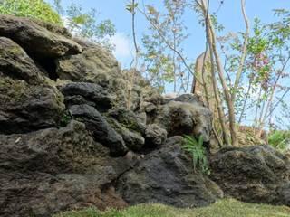 石積み施工後 の 庭や煌久