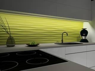 Sandglass - Panele 3D Kalithea Kalithea KuchniaAkcesoria i tekstylia Zielony