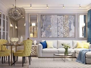 Dana Towers (дизайн-проект) Гостиная в классическом стиле от Design Service Классический