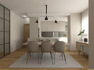 NP Apartment: Salas de jantar  por 411 - Design e Arquitectura de Interiores