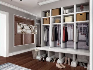 ANTE MİMARLIK Modern Corridor, Hallway and Staircase White