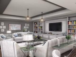 ANTE MİMARLIK  – Salon tasarım:  tarz Oturma Odası