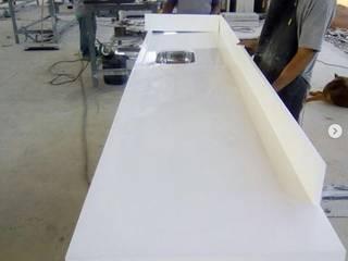 Matioli Mármores Dapur Modern Marmer White