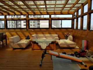 南方松玻璃屋:   by 園匠工坊-採光罩 玻璃屋 小木屋 露台 南方松木作工程