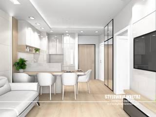 Mieszkanie 32m2 Nowoczesna kuchnia od Stylownia Wnętrz Nowoczesny