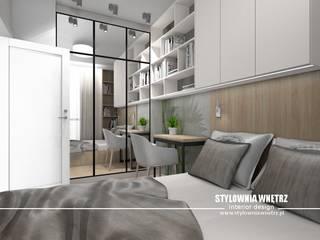 Mieszkanie 32m2 Nowoczesna sypialnia od Stylownia Wnętrz Nowoczesny
