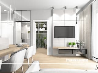Mieszkanie 32m2 Nowoczesny salon od Stylownia Wnętrz Nowoczesny