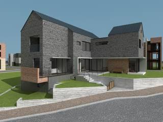 원주 혁신도시 단독주택: 건축사사무소  CSU의  전원 주택