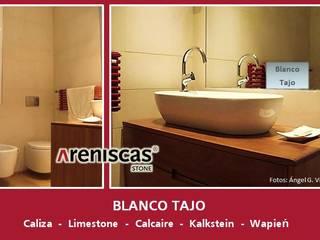 ARENISCAS STONE Bagno in stile mediterraneo Calcare Ambra/Oro