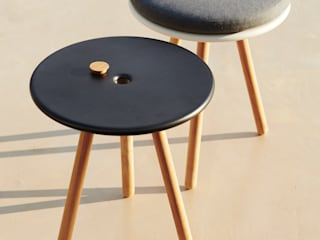 Area Stool/Table IQ Furniture Garden Furniture Wood-Plastic Composite Black