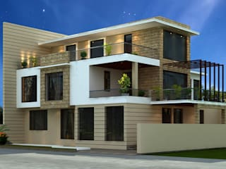 Exterior Design and Facade Ideas:  Houses by IDEARCH