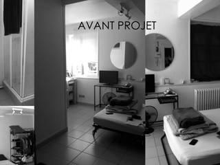 Rénovation Studio rue Flaubert Rouen destiné a la Location saisonnière par Louise EDOUIN TD Architecture Rouen