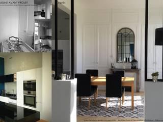 Rénovation Maison de maître Sotteville sous le Val 76 Séjour, cuisine, suite parentale:  de style  par Louise EDOUIN TD Architecture Rouen