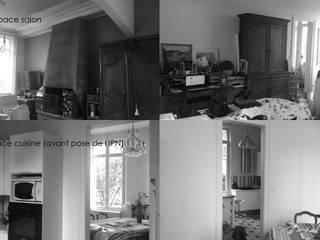 Rénovation Maison de maître Sotteville sous le Val 76 Séjour, cuisine, suite parentale par Louise EDOUIN TD Architecture Rouen
