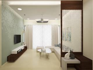 Living room designs:  Living room by Golden Spiral Productionz (p) ltd