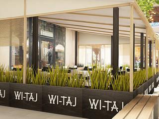 Ogródek gastronomiczny: styl , w kategorii  zaprojektowany przez Izabela Jurkiewicz Projektowanie Wnętrz
