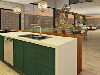 Kitchen by Luis Escobar Interiorismo, Modern