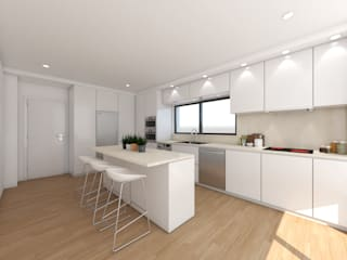 Cozinha em Alcainça | Projecto 3D Cozinhas minimalistas por DR Arquitectos Minimalista