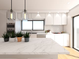 Cocinas de estilo minimalista de DR Arquitectos Minimalista