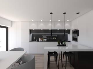 Apartamento na Ericeira Type01 Cozinhas modernas por DR Arquitectos Moderno