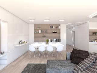 Apartamento na Ericeira Type02 Salas de estar modernas por DR Arquitectos Moderno