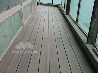 Terrazas de estilo  de 新綠境實業有限公司, Escandinavo