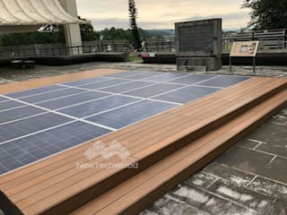 Roof terrace by 新綠境實業有限公司, Asian