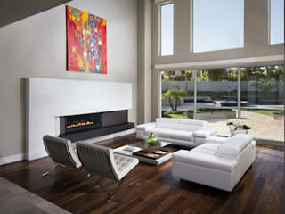 Salas de estilo moderno de RFoncerrada arquitectos Moderno