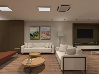 Apartamento 220mts: Salas de estar  por NSFAZ ARQUITETURA E CONSTRUÇÃO