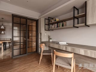 台中林公館 - 中古公寓大樓翻修 根據 漢玥室內設計 現代風
