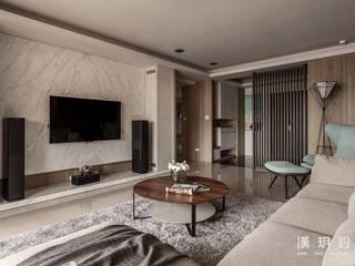 Salas de estilo moderno de 漢玥室內設計 Moderno