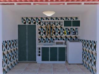 Área de Serviço Varandas, alpendres e terraços ecléticos por Mariana Bittencourt Arquitetura Eclético