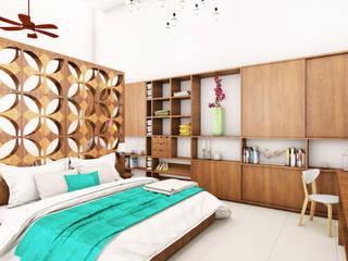 Loft Casa 53: Recámaras de estilo  por Escaleno Taller de Diseño