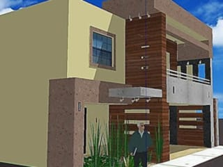 Propuesta de Remodelación de Fachada Casas modernas de Arquitectura, Diseño y Construcción Moderno