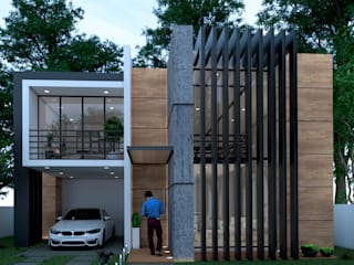 proyecto para vivienda en cacnun: Casas unifamiliares de estilo  por ELOARQ,