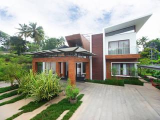 Private Residence at Thrivandram Minimalist houses by Kembhavi Architecture Foundation Minimalist