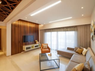 LIVING AREA 02 Modern living room by Suchit Interiors & Associate Modern