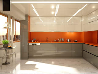 ANTE MİMARLIK Kitchen units Brown
