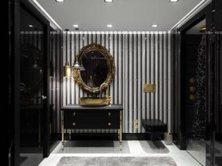 ANTE MİMARLIK Modern bathroom Black