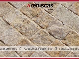 ARENISCAS STONE Spazi commerciali in stile rustico Pietra Ambra/Oro