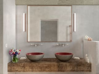 Eclectic style bathroom by architetto stefano ghiretti Eclectic
