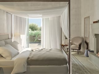 Eclectic style bedroom by architetto stefano ghiretti Eclectic