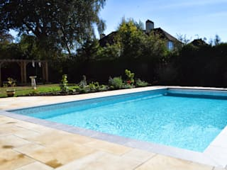 Award Winning In Ground Pool & Hot Tub Installation Bedfordshire Modern pool by Blue Cube Pools Modern