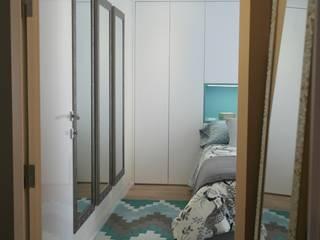 Remodelação de apartamento Quartos ecléticos por AtelierAtelier Eclético