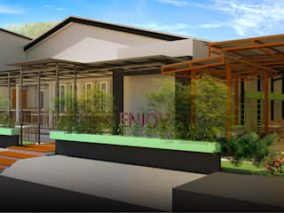 Cafe sintang Bp. Yanda Oleh Tropical Urban Design Studio