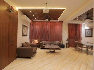HMC - HIS MASTERS CHOICE Asian style living room by SPACCE INTERIORS Asian