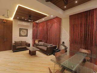 Asian style living room by SPACCE INTERIORS Asian