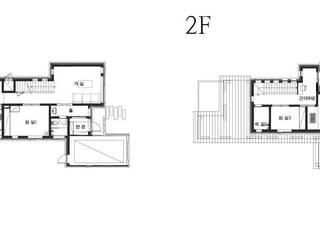마당을 공유하는 모던 콘크리트주택 (충청남도 보령시): 더존하우징의 현대 ,모던