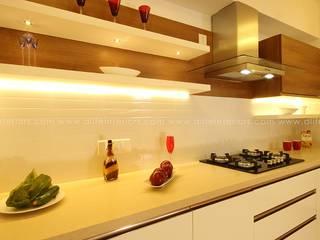 Mr. Anwar Rasheed , Film Director - Apartment in Kadavanthara,Kochi DLIFE Home Interiors KitchenKitchen utensils MDF White