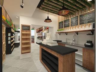Diseño de oficinas de Dies diseño de espacios Rústico